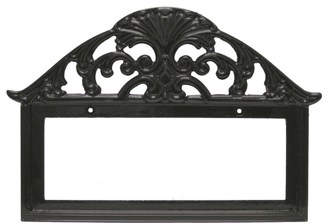 Filigree 5 number frame ceramic tile 2x4 black for House number frames