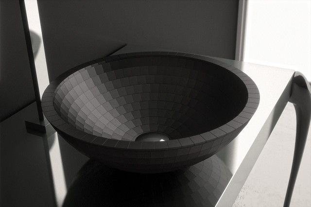 Black Modern Vessel Sink  Designer Bathroom Sink Made in