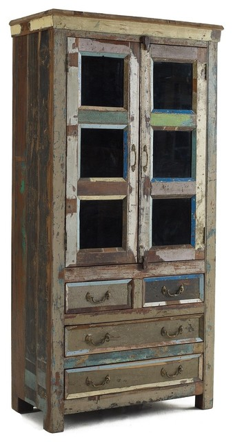Shabby Chic Hutch Cabinet - Eclectic - China Cabinets And ...