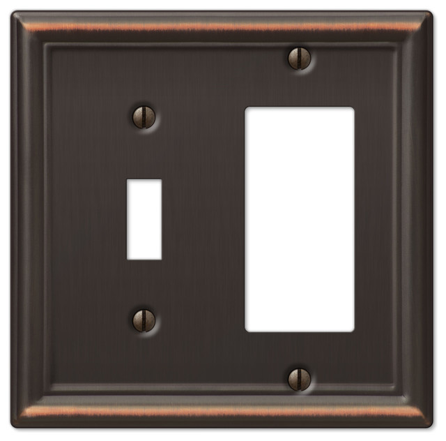 Chelsea Steel 1-Toggle, 1-Rocker Wall Plate - Traditional - Switch Plates And Outlet Covers - by ...