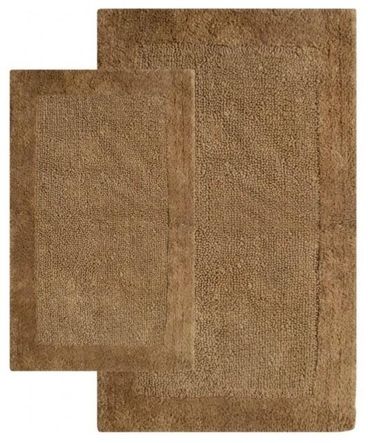 napoli rug 2 set brown traditional bath