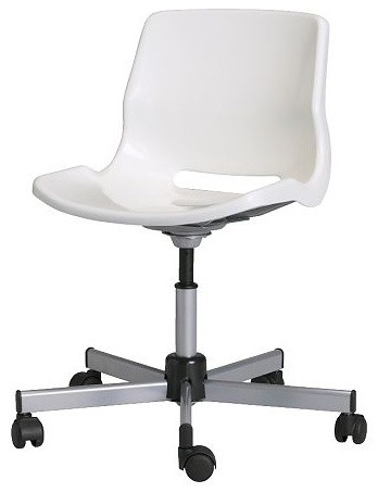 Swivel chair white ikea contemporary office chairs by ikea