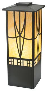 "12"" Square Scottsdale Mission Pier Mount - Post Lights - by Meyda"