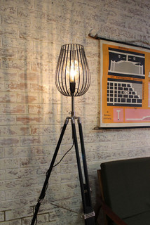 cage light tripod lamp industrial floor lamps melbourne by
