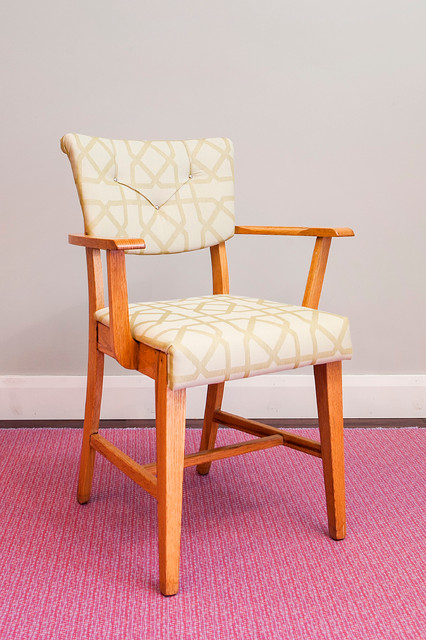 Mid Century Modern Armchair Newly Upholstered Midcentury Dining Chairs
