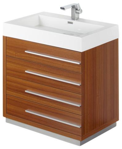 Livello Teak Modern Bathroom Vanity With Medicine Cabinet 30 Modern Bathroom Vanities And