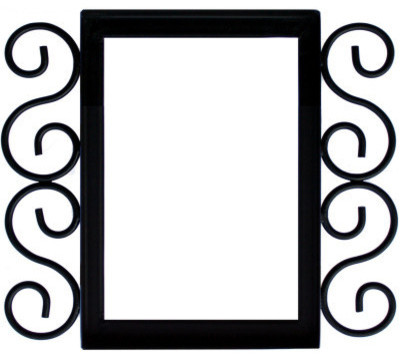 Wrought iron house number frame villa 3 house numbers for House number frames