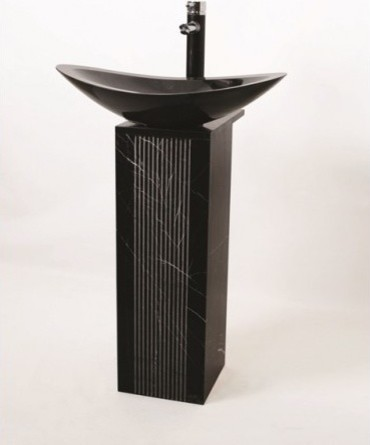 Terra Stone Pedestal Without Basin Modern Bathroom Sinks Brisbane By Nova Deko