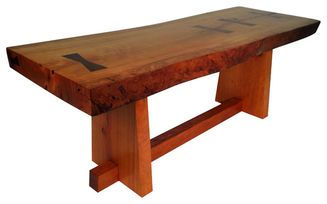 Live Edge Coffee Table Inspired By George Nakashima