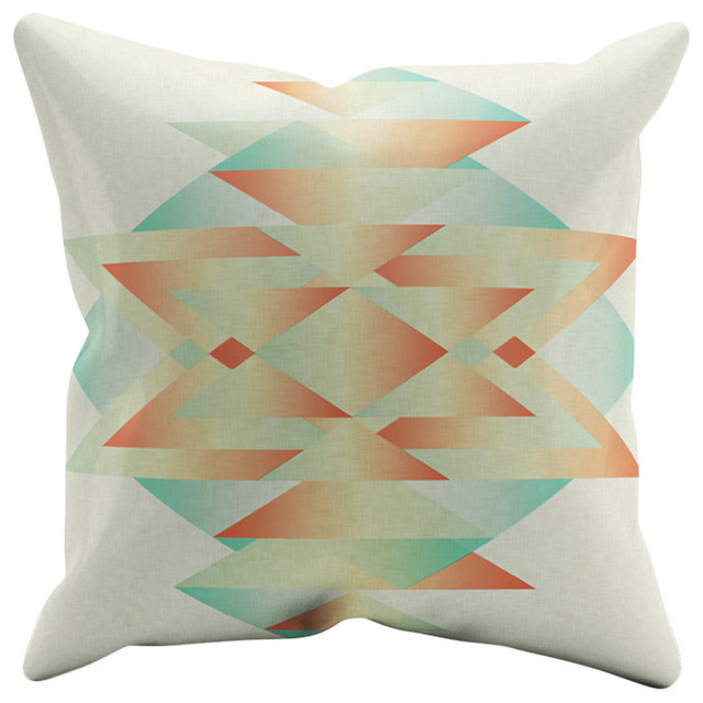 "Southwest By J Harris Outdoor Throw Pillow 18""x18"
