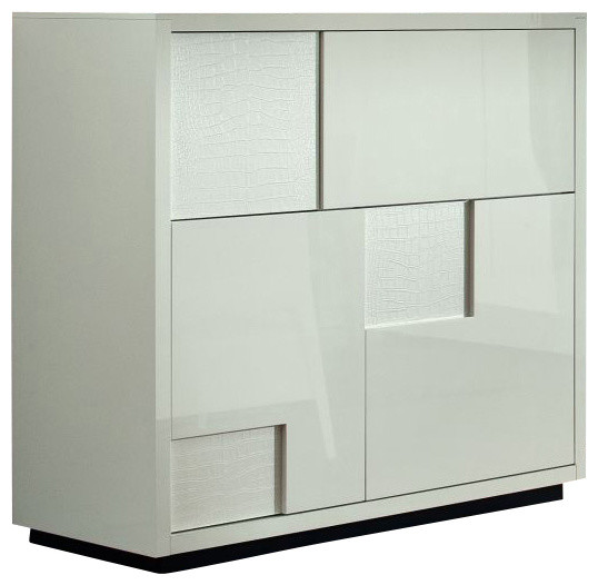 Nightfly Bar Buffet-White - Modern - Wine And Bar Cabinets - by Inmod