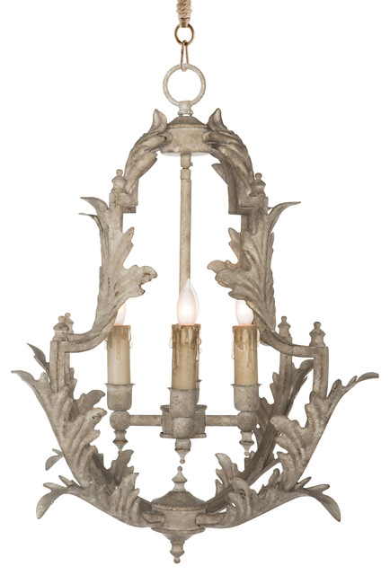 clarisse french country rustic white chandelier 23 h