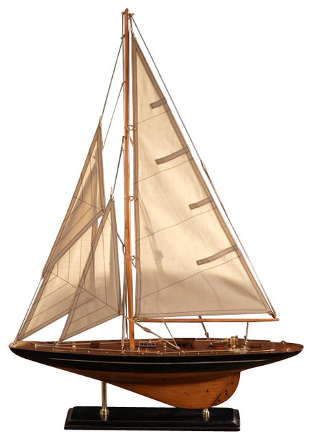 Wooden Model Sailboat Small By Zodax Contemporary
