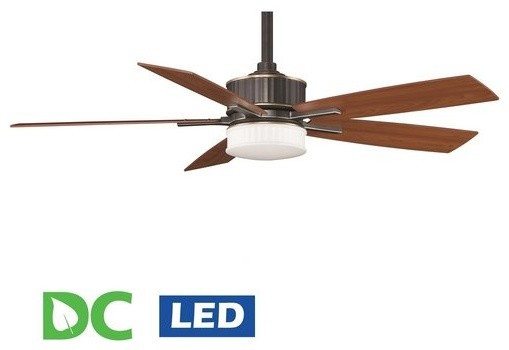 Ceiling fan with dc motor and led light : Fanimation landan quot blade dc ceiling fan blades led