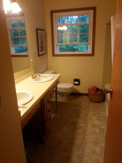 Bathroom remodel help one sink or two for Bathroom remodel help