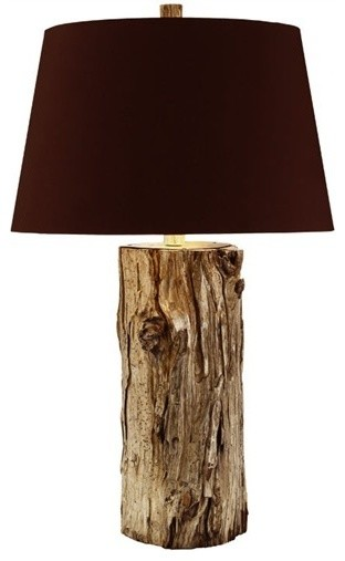 tall wood stump lamp contemporary table lamps other by cose. Black Bedroom Furniture Sets. Home Design Ideas