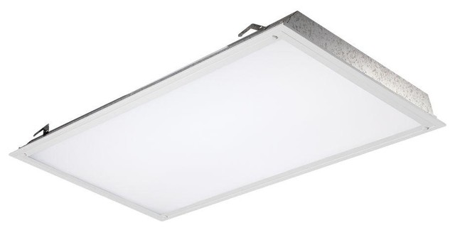 EnviroLite Recessed Lighting 2 Ft X 4 Ft White Backlit Recessed LED Ceiling