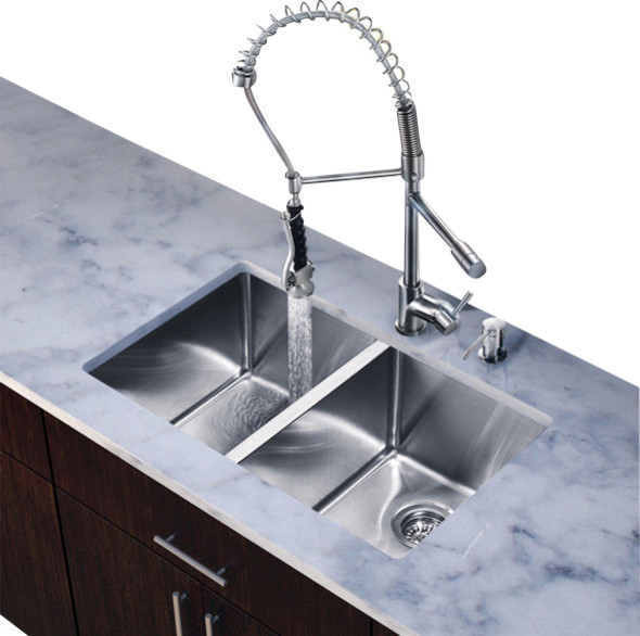 all in one kitchen sink with faucet set contemporary