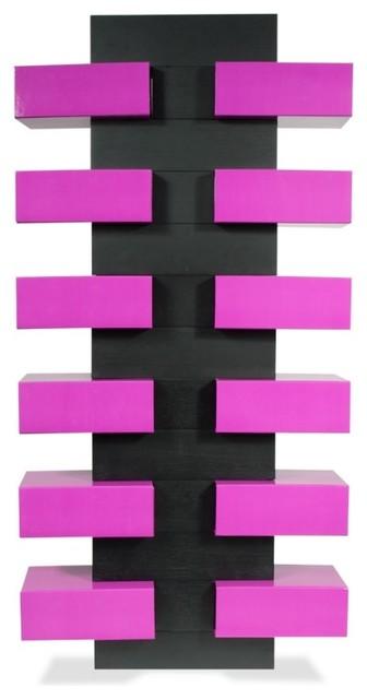 schuhregal shoe tree set t schwarz violett bauhaus look. Black Bedroom Furniture Sets. Home Design Ideas