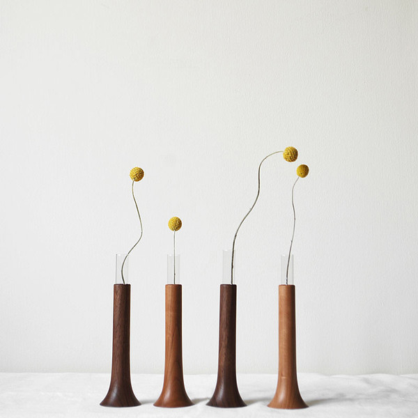Single flower vase in cherry modern vases by monosquare - Great decorative flower vase designs ...