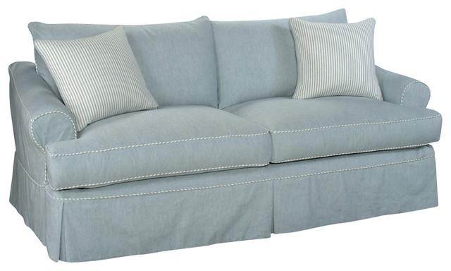 Custom slipcovered sofa bainbridge farmhouse sofas for Sectional sofa farmhouse