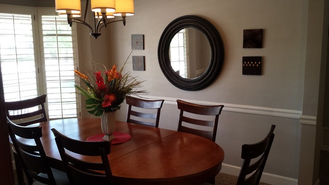 Ranch home update for Updating a traditional dining room