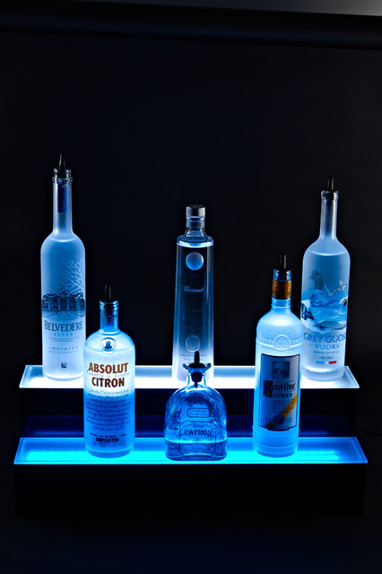 2 Tier Liquor Display LED Lighted Bottle Shelf Display - Modern - Lighting - other metro - by ...