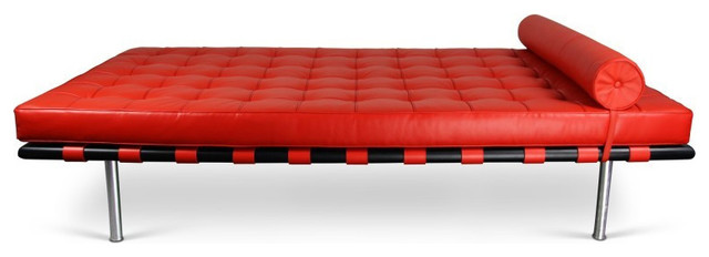 Barcelona daybed midcentury chaise longue by emfurn for Barcelona chaise longue