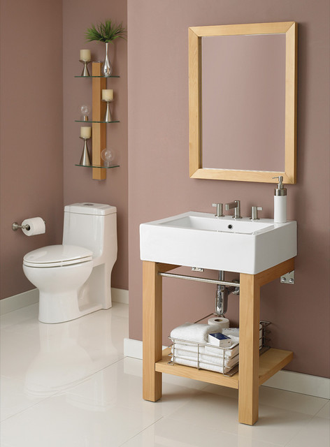 Small bathroom vanities traditional bathroom vanities for Double vanity for small bathroom