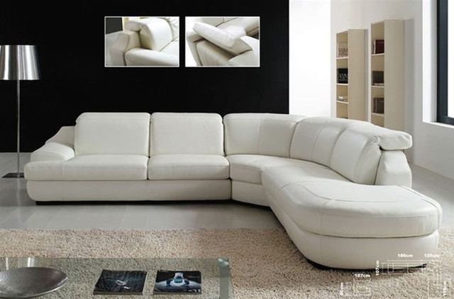 Advanced adjustable italian leather living room furniture for Modern sectional sofa miami