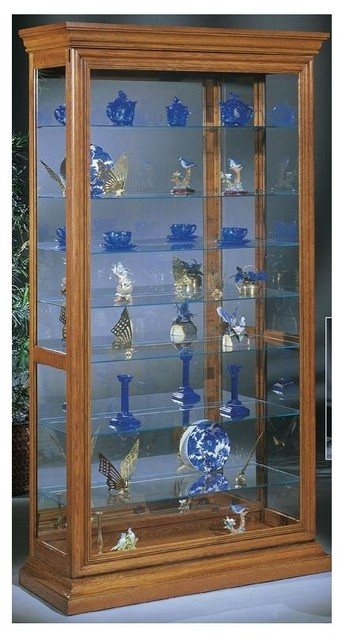Lighthouse Manifestation - Wood Curio Cabinet - Traditional - China Cabinets And Hutches - by ...