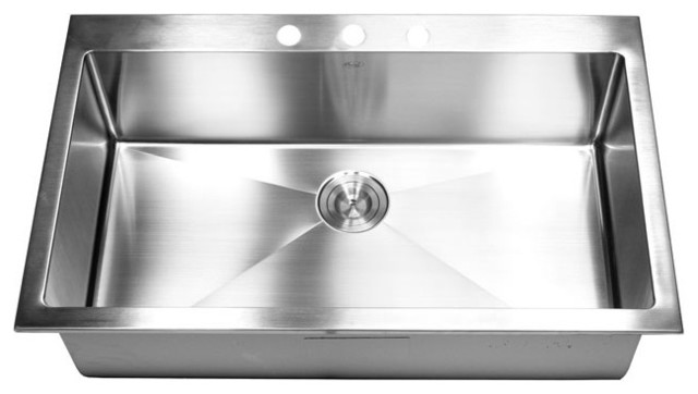 36 Inch Top-Mount / Drop-In Stainless Steel Single Bowl