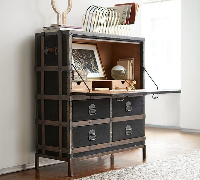 Ludlow Trunk Secretary Desk Contemporary By Pottery Barn