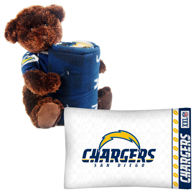 San Diego Chargers Bedding Sets: NFL San Diego Chargers Bear Pillowcase Set Football