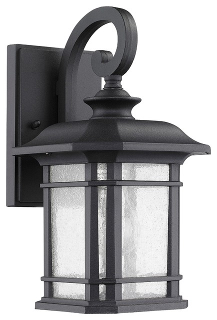 Franklin transitional 1 light black outdoor wall sconce traditional outdoor wall lights and for Black exterior sconce
