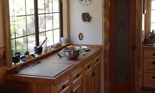 maple butcherblock kitchen countertop by grothouse