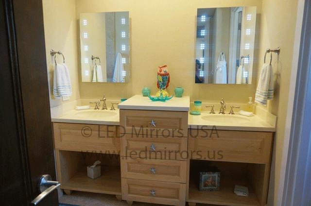 Creative Custom Framed Mirrors  Mediterranean  Bathroom  Tampa  By GulfSide
