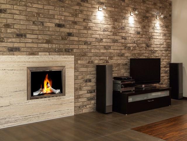 Fireplace glass door in a modern room modern by fireplace doors