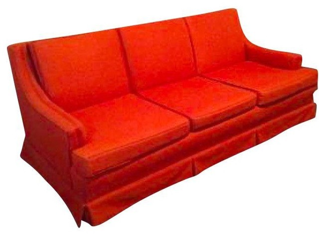 mid century modern sofa in burnt orange modern sofas