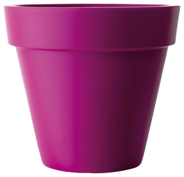 pure cache pot d80cm fuchsia en plastique elho moderne pot et jardini re d 39 ext rieur par. Black Bedroom Furniture Sets. Home Design Ideas