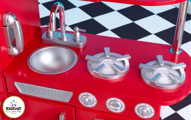 Kids red vintage kitchen set from vistastores for Kitchen set wala game