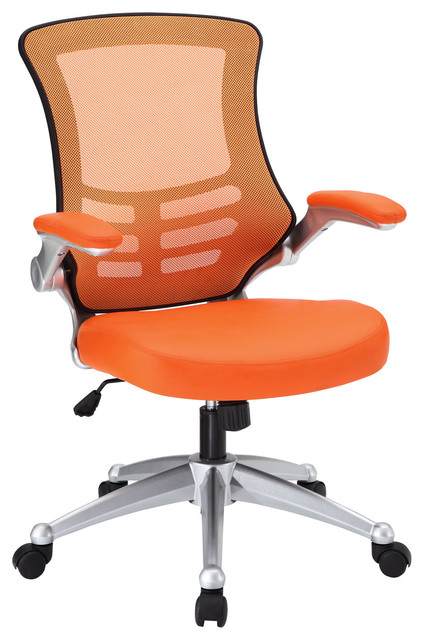 Attainment Office Chair In Orange Modern Office Chairs By LexMod
