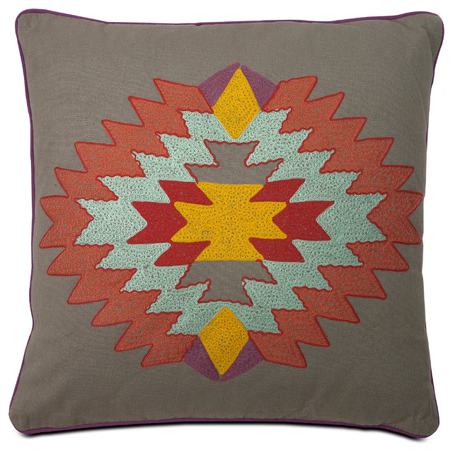 Southwestern Decorative Pillows : Indian Summer Grey Pillow southwestern-decorative-pillows
