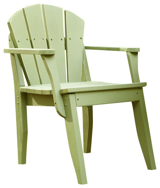 Plaza Dining Chair With Arms White Distressed traditional outdoor dining c