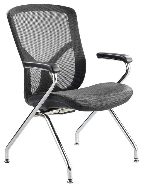 Fuzion Luxury Aluminum Frame Guest Chair Modern Office Chairs By Timele
