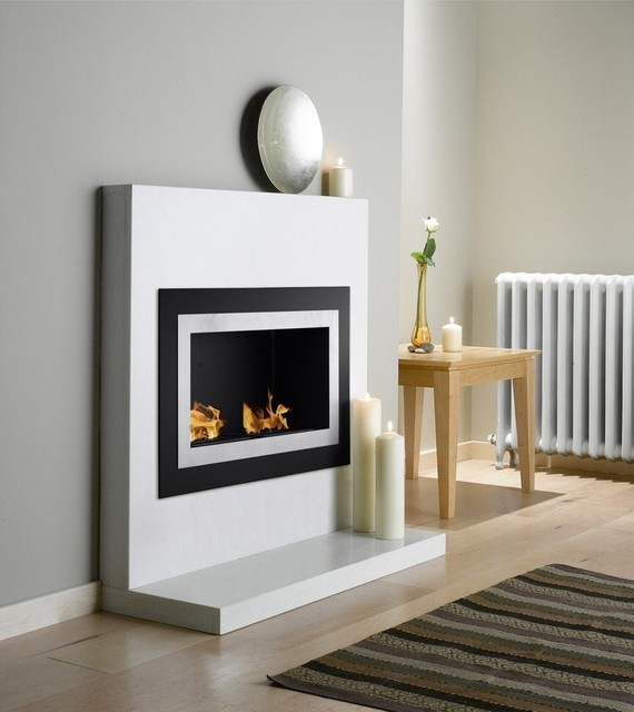 Villa Recessed Bio Ethanol Fireplace Contemporary