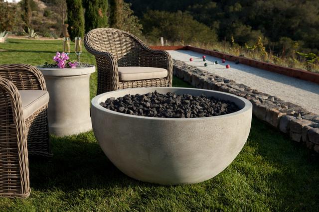 The infinite artisan fire bowl modern fire pits san for Eldorado stone fire pit