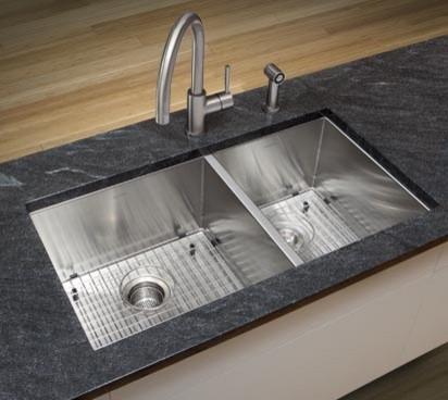 Sink Blanco : BLANCO QUATRUS 1-3/4 Bowl - Contemporary - Kitchen Sinks - by BLANCO