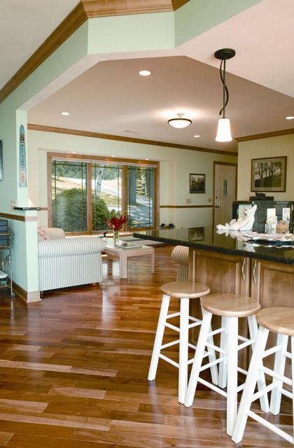 Lake kegonsa tri level remodel traditional living room for Tri level kitchen remodel
