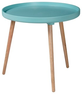 Table basse ronde kompass 55 haute couleur turquoise for Table basse ronde industrielle